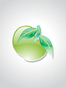 Background With Isolated Green Apple