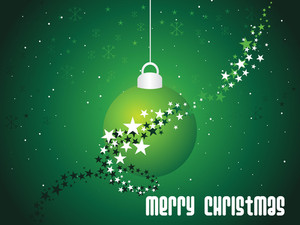 Background With Isolated Hanging Christmas Ball
