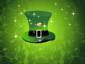 Background With Isolated Leprechaun Hat