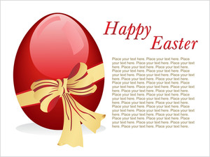 Background With Isolated Maroon Egg