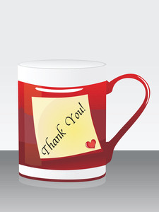 Background With Isolated Mug