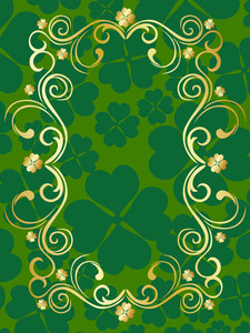 Background With Isolated Patrick Day Frame