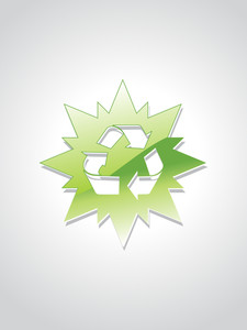 Background With Isolated Recycling Object
