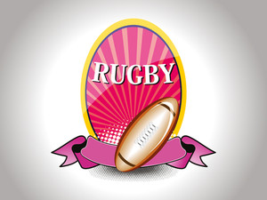 Background With Isolated Rugby