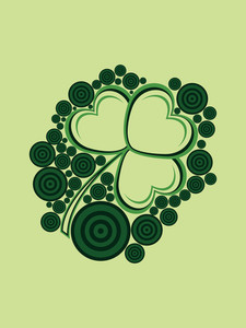 Background With Isolated Shamrock Blossom