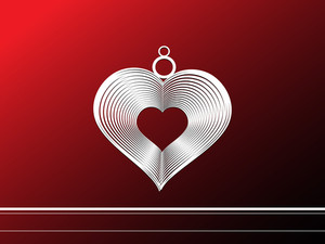 Background With Isolated Silver Heart