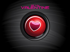 Background With Isolated Valentine Icons