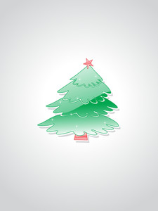 Background With Isolated Xmas Tree