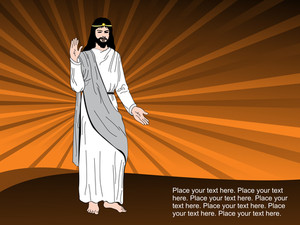 Background With Jesus Illustration