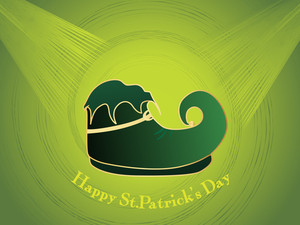 Background With Leprechaun Shoes