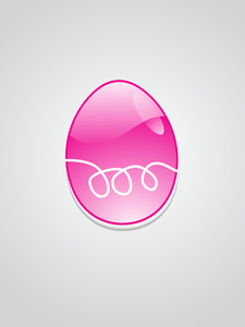 Background With Magenta Easter Egg
