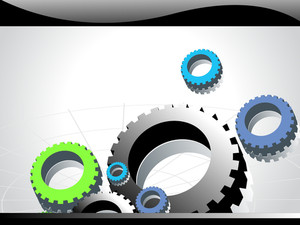Background With Mechanical Gears