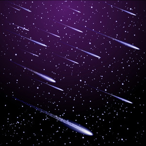 Background With Meteor Shower