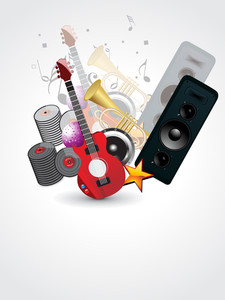 Background With Musical Instrument