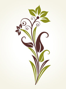 Background With Natural Floral Pattern