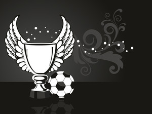 Background With Ornate Trophy