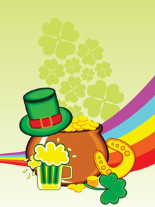 Background With Patrick Day Elements