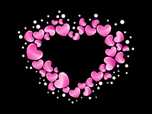 Background With Pink Macro Heart