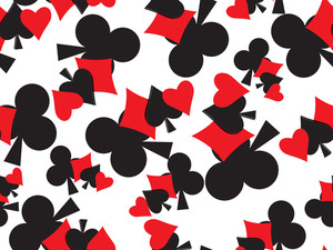 Background With Playing Cards