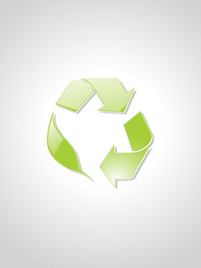 Background With Recycling Icons