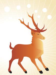 Background With Reindeer