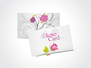 Background With Romantic Love Cards