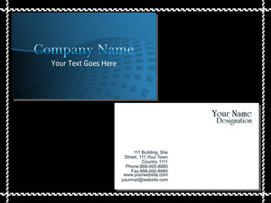 Background With Set Of Business Card