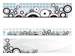 Background With Set Of Header