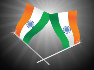 Background With Set Of National Flag