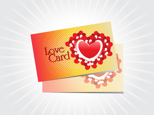 Background With Set Of Romantic Love Card