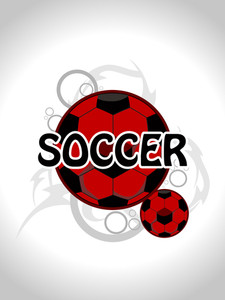 Background With Set Of Soccer
