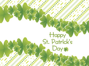 Background With Shamrock Border 17 March