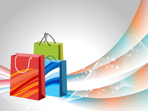 Background With Shopping Bags