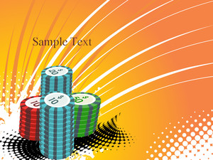 Background With Stacks Of Poker Chips