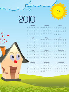 Background With Stylish Pattern Calender