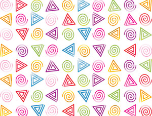 Background With Swirl Cone And Circles