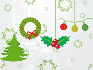 Background With Xmas Icons