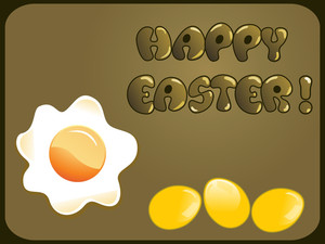 Background With Yellow Eggs