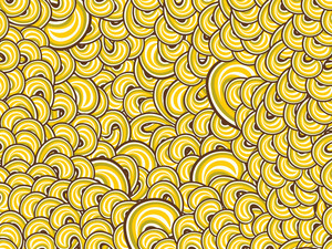 Background With Yellow Spiral Pattern
