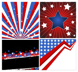 Backgrounds Patriotic Usa Theme Vector