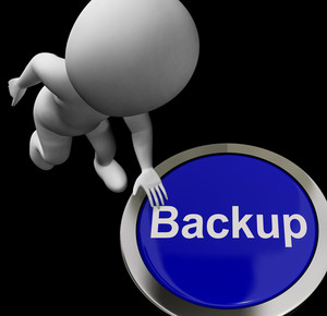Backup Button For Archives And Data Storing