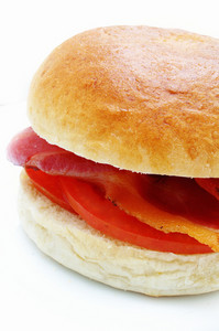 Bacon And Tomato Bread Roll Bun Sandwich