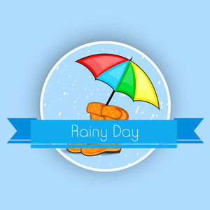 Bad Weather Season Concept With Rain