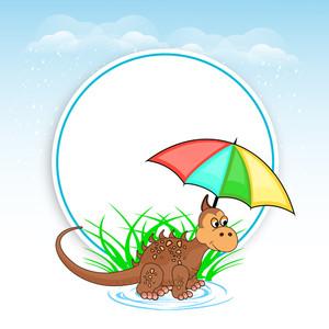 Bad Weather Season Concept With Rain