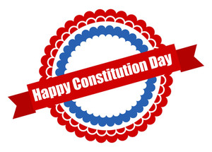 Badge Constitution Day Vector Illustration