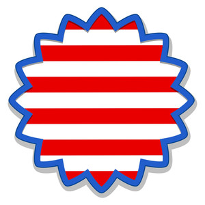 Badge Sticker Us 4th Of July Independence Day Vector Design