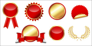 Badges And Seals Vectors