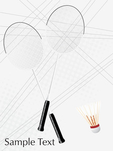 Badminton Game Equipment On The Gray Background