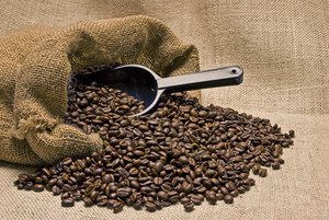 Bag of Coffee Beans With Scoop