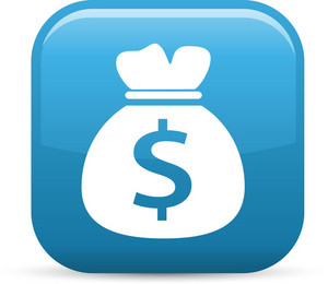 Bag Of Money Elements Glossy Icon